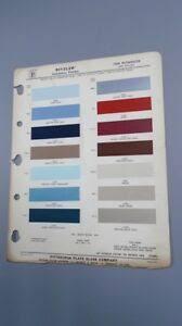 Details About 1964 Plymouth Models Factory Passenger Car Color Chart Rm Ditzler Ppg Auto Paint