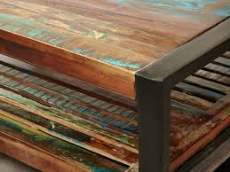 reclaimed wood coffee table for your living room decor idea two tier reclaimed wood coffee