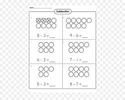 Subtraction Worksheet Kindergarten First grade Learning ...