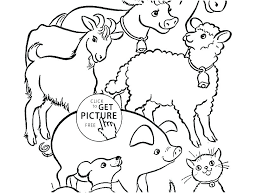 Free Printable Farm Tractor Coloring Pages Farmers Market Animal