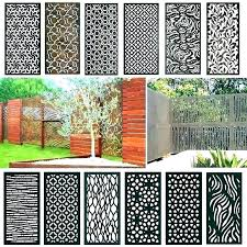 privacy panels metal outdoor screen acacia wood with 4 screens lattice home depot