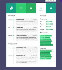 Interactive Resume Template Commily Com