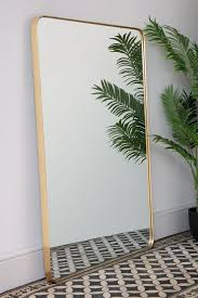 framed large rectangular wall mirror by