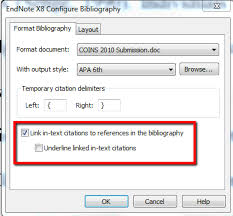 Endnotes References Hyperlink Citations In A Bibliography Endnote Library