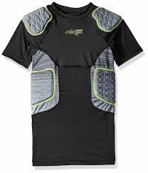 Riddell Girdle Size Chart Riddell Mens Power Amp 5 Pad Football Compression Set Shirt Girdle Black Xl
