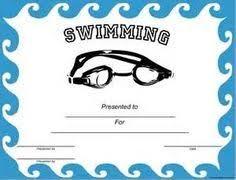 Swimming Certificate Templates Rome Fontanacountryinn Com