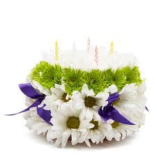 Best Wishes Birthday Cake Arrangement At Send Flowers