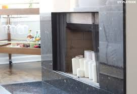 we love the look of the candles in the fireplace when we aren t using