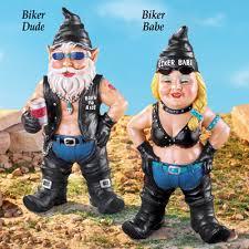cheap garden gnomes. Biker Garden Gnomes Cheap