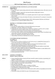Support Technician Resume Customer Support Technician Resume Samples Velvet Jobs