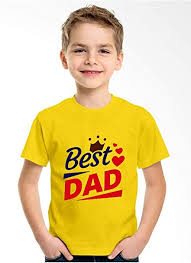 Printmate Best Dad Yellow Graphic <b>Polyester</b> DriFit Round Neck ...