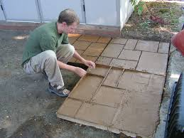 Diy Concrete Patio How To Make A Nice Cement Patio Vaseline Hardware And Squares