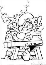 The Smurfs Coloring Pages On