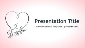 Love Power Point Background Free I Love You Powerpoint Template Prezentr Ppt Templates