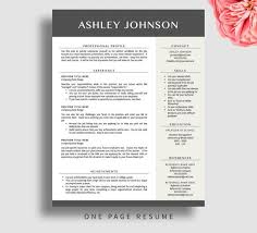 Gallery Of 17 Best Ideas About Modern Resume Template On Pinterest