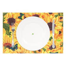 WOZO <b>Butterfly Sunflower Print</b> Placemat - Buy Online in Gibraltar at ...