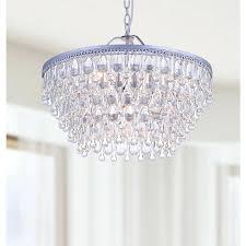 small teardrop crystal chandelier crystals brushed oak 1