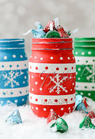 Simple Christmas Designs To Paint 55 Mason Jar Christmas Crafts Fun Diy Holiday Craft Projects