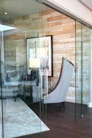 sliding glass office doors
