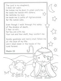 The Lord Is My Shepherd Coloring Page Good Pages Free Sheep And She