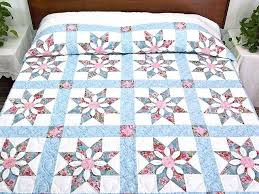 Dahlia Star Quilt Exquisite Made With Care Amish Quilts From ... & Dahlia Star Quilt Exquisite Made With Care Amish Quilts From Lancaster  Hs5186 Amish Country Quilt Show Adamdwight.com