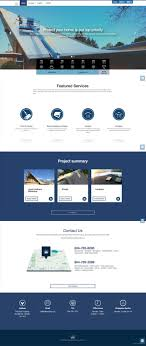 Web Design Burnaby Roofing Web Design Flat Design Navy Blue Theme One Color