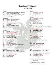 Event Calendar Best Dawe School PTO Events Page Joseph R Dawe Jr School PTO