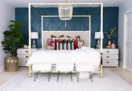 Master Bedroom Accent Wall Master Bedroom Makeover With Awesome Accent Wall Classy Clutter