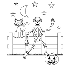 Skeleton Coloring Pages Halloween Halloween Coloring Pages