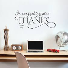in everything give thanks christian jesus vinyl quotes wall sticker art decal room decor 8512 removable diy in wall stickers from home garden on  on wall art decals with in everything give thanks christian jesus vinyl quotes wall sticker