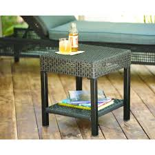 hampton bay fenton wicker outdoor patio side table