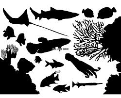 無料イラスト 魚 シルエット