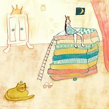 princess and the pea illustration. pea princess illustration by nelleke verhoeff for and the fairytale :