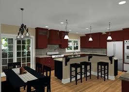 L Shaped Kitchen Island Kitchen Room 2017 Open Floor Plan Kitchen Dining Living Room