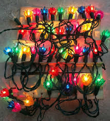 Vintage Christmas Light Reflectors For Sale Vtg Christmas Lights W Flower Petal Reflectors Christmas