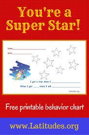 Free Behavior Chart Super Star School School Can Be Fun