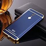 redmi note 4 cover 3in1 hybrid hard back cover electroplating case for redmi note 4 blue