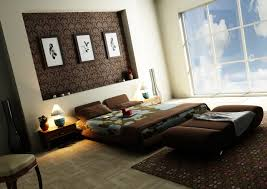 Beautiful Wallpaper Design For Home Decor Simple Double Bed Side Table Lamp And Plant On Vase Near Beautiful 59