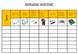 Daily Routine Chart The Importance Of Establishing Daily Routines Tj Homeschooling