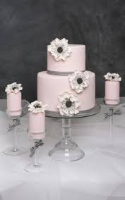 Simple Wedding Cake Custom Designed 2 Tier Modern Wedding Cake Pink