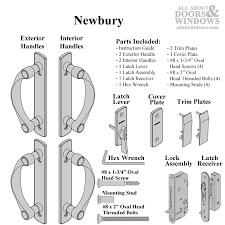 andersen newbury 4 panel double door hardware set for frenchwood gliding door satin nickel
