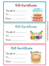 018 template ideas free customizable birthday gift certificate editable