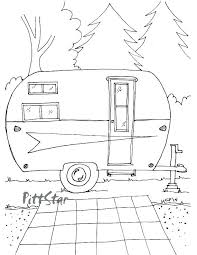Camper Coloring Pages Travel Coloring Pages Bingo 2 Page Groovy