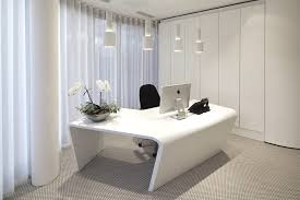 modern executive office design. Effective Office Design With Beautiful Curtains And White Interior Ideas Modern Executive L