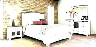 Distressed Wood Bed Bedroom Furniture Weathered Wooden Set Solid ...