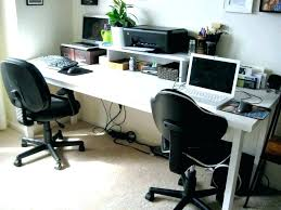 2 Person Computer Desk Incredible L Shaped Office Two Corner Tandemdesigns  Co Regarding 7 ...