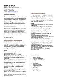 Resume Templates Teachers All About Letter Examples