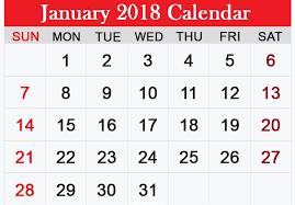 calendar january 2018 template free january 2018 printable calendar template free printable