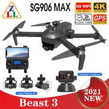 2021 โดรนบังคับ <b>Sg906 Max</b> Pro2 <b>Beast 3</b> Gps Drone พร้อมกล้อง 4K ...