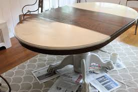 Chalk Paint Dining Room Table The Picket Fence Projects Sprucing Up A Temporary Table